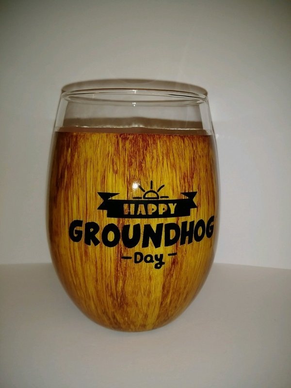 Happy Groundhog Day Glass Sku# 1991