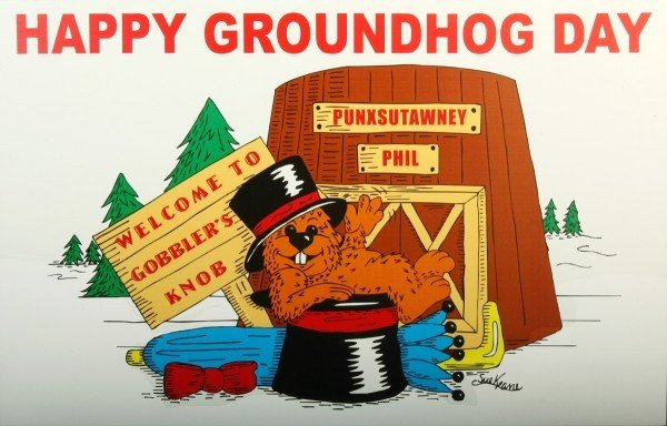 Happy Groundhog Day Poster (Full-color ) Sku# 272