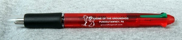 Home of the Groundhog 4 color pen Sku#407