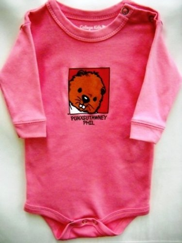 Infant Baby Phil Onesie long-sleeve pink Sku # 50-newborn, Sku#51- 6 mos, Sku# 52- 12mos, Sku# 53- 18 mos