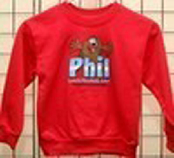 Infant Tri-Color Phil Sweatshirt Sku# 434- 6mos Sku# 435- 12mos Sku# 436- 18mos