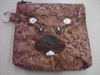 Made by M.E. Punxsutawney Phil Zip Purse SKU#1535