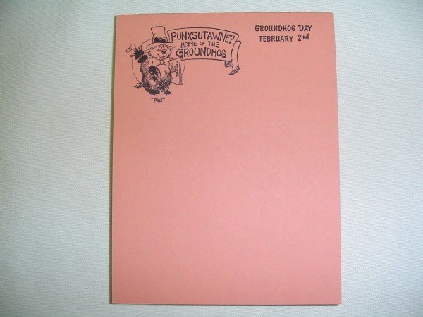 Memo Pad # 4-Multi Color - Home of the Groundhog Sku # 90