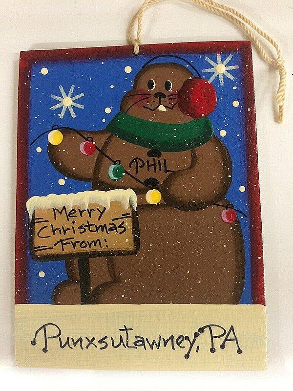 Merry Christmas From Punxsutawney Ornament sku#2151
