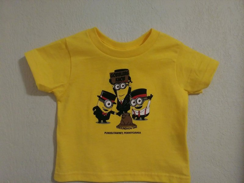 "Minions with ""Phil"" Toddler T Sku#1944-2T Sku#1945-3T Sku#1946-4T Sku#1947-5/6"