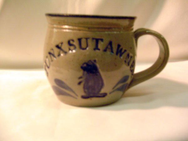 Punxsutawney Crock Coffee Mug - Blue Sku# 813