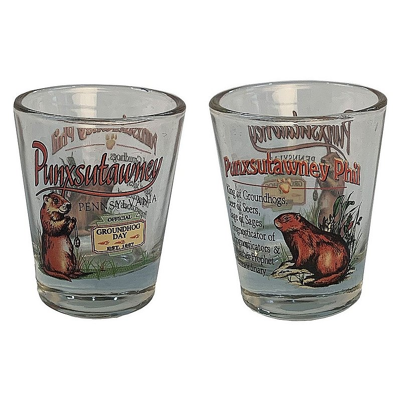 Punxsutawney Ghog Shot Glass Sku#2214