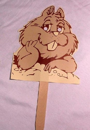 Punxsutawney Phil Mask (shipped unassembled) Sku# 276