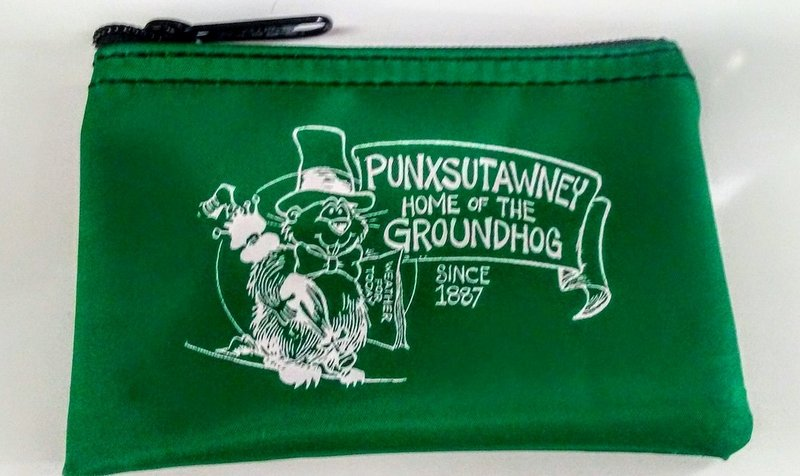 Punxsutawney Phil Zipper Coin Purse-Green Sku# 282
