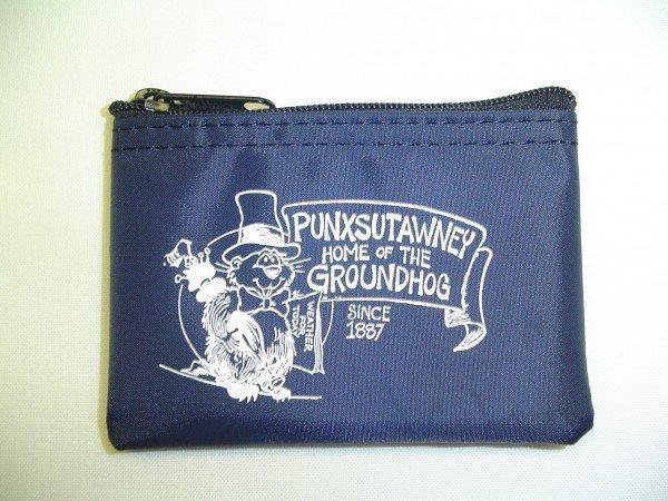 Punxsutawney Phil Zipper Coin Purse-Navy Sku# 281