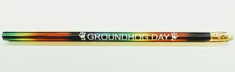Rainbow Foil Ghog Day Pencil Sku#1932 50 cents each