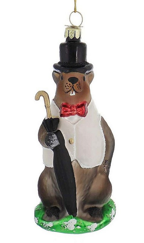 Rainy Day Groundhog Ornament (Kurt Adler Collection) sku#2314