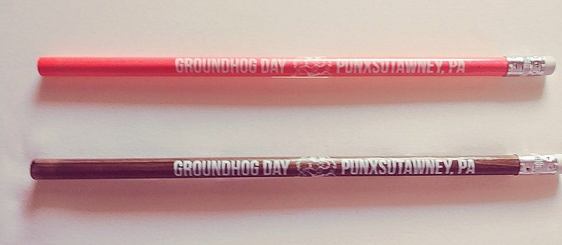 Scented Groundhog Pencil (chocolate scent and bubble gum scent) sku#2192