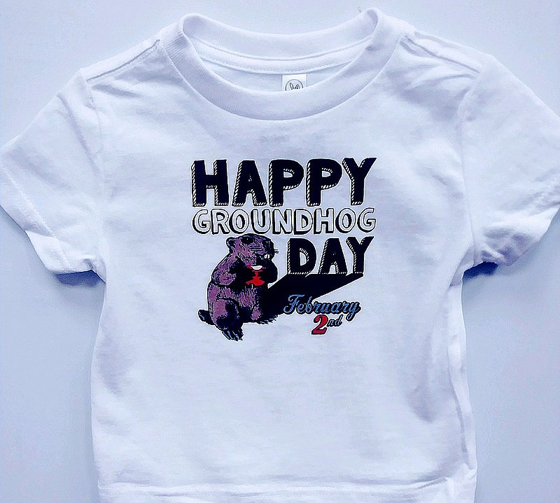 Toddler Happy Ghog Day tshirt sku#2286-2T sku#2287-4T sku#2288-5/6