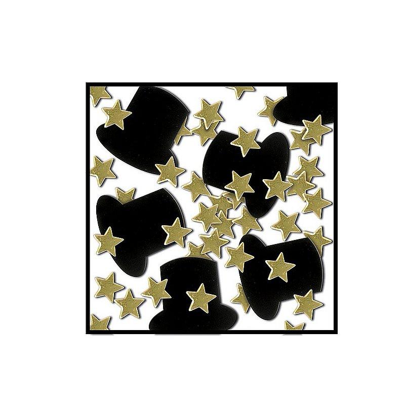Top Hats & Stars Confetti Pk sku#2052