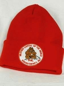 Weather Capital of the World Knit Cap-Red Sku# 419
