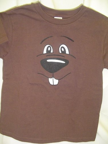 Youth Groundhog Face T-Shirt Sku#775-small 6-8 Sku#776-medium 10-12 Sku#777-large 14-16 Sku#778-xlarge 18-20