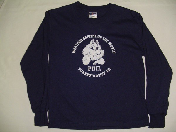 Youth Weather Capital of the World Long Sleeve-Navy Sku#579-small 6-8 Sku#580-medium 10-12 Sku#581-large 14-16