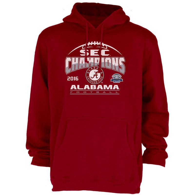 Alabama Crimson Tide SEC Champs Hooded Sweatshirt 2016 MEANING-SEC16