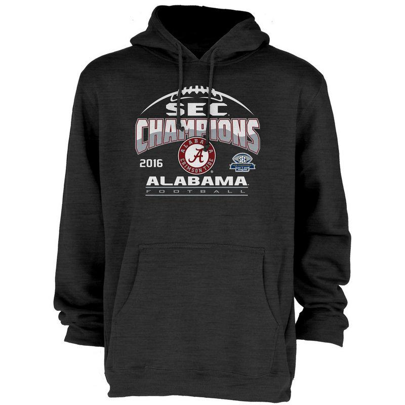 Alabama Crimson Tide SEC Champs Hooded Sweatshirt Charcoal 2016 MEANING-SEC16