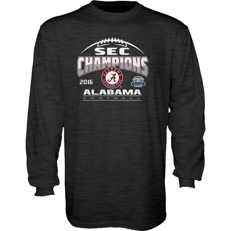 Alabama Crimson Tide SEC Champs Long Sleeve TShirt Charcoal 2016 MEANING-SEC16
