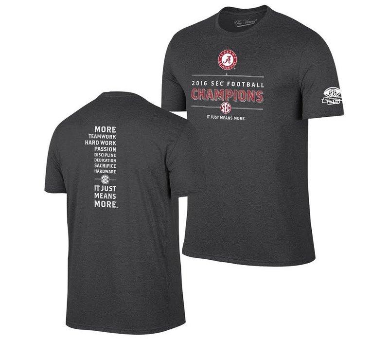 Alabama Crimson Tide SEC Champs TShirt Charcoal 2016 TV7051