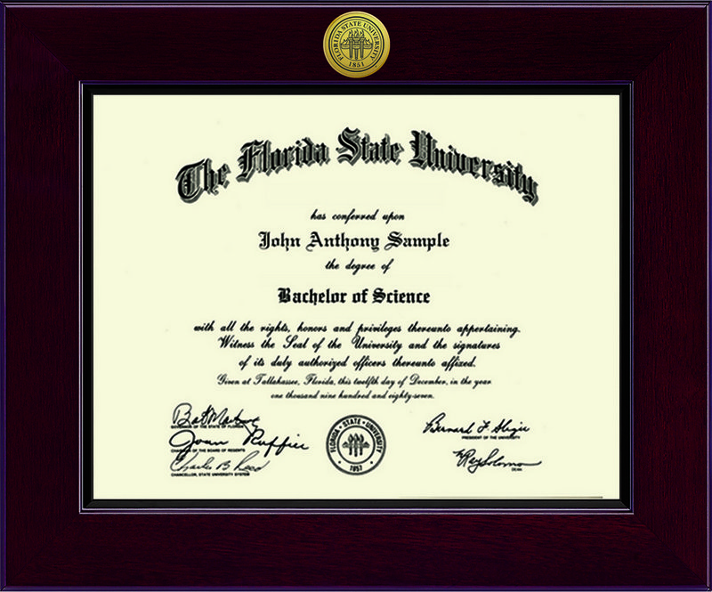 Diploma Frames & Photos - Florida State Seminoles | College