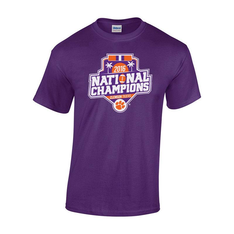 Clemson Tigers 2016 National Champions TShirt Purple (2017 championship) P0007179