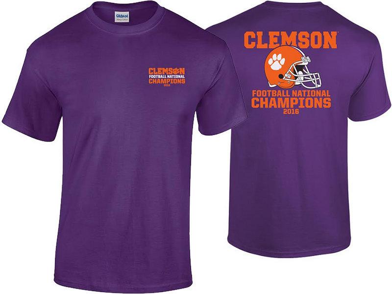 Clemson Tigers 2016 National Champions TShirt Purple (2017 championship) P0007183 & P0007070