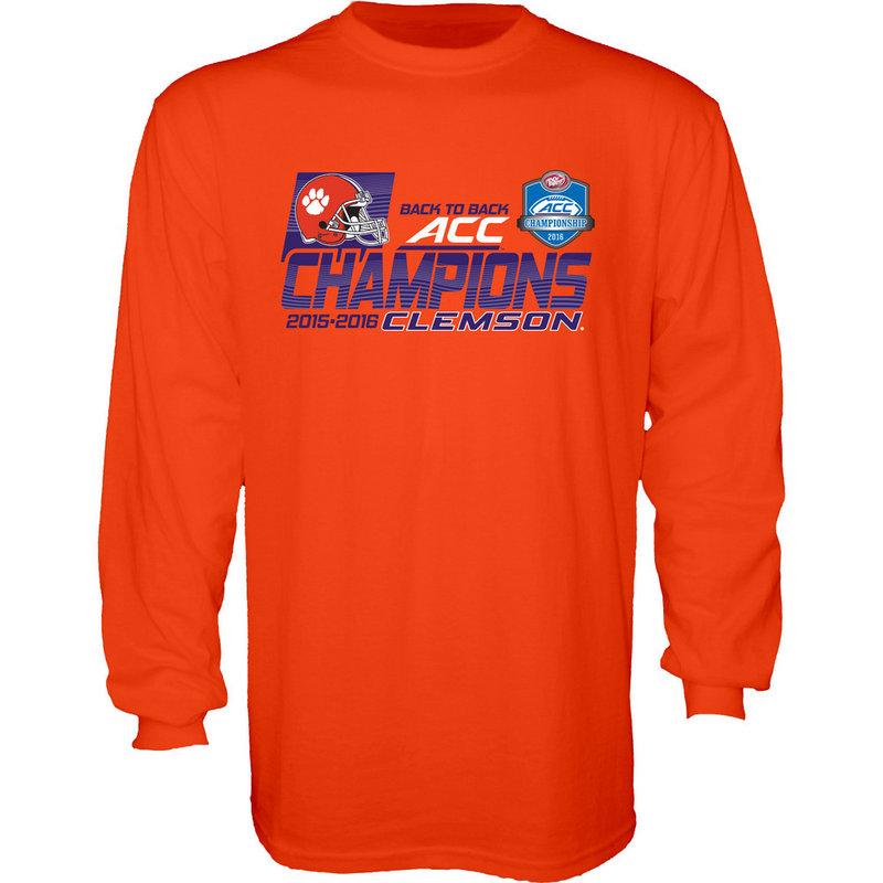 Clemson Tigers ACC Champs Long Sleeve TShirt Orange 2016 CROSS-FIT-ACC16