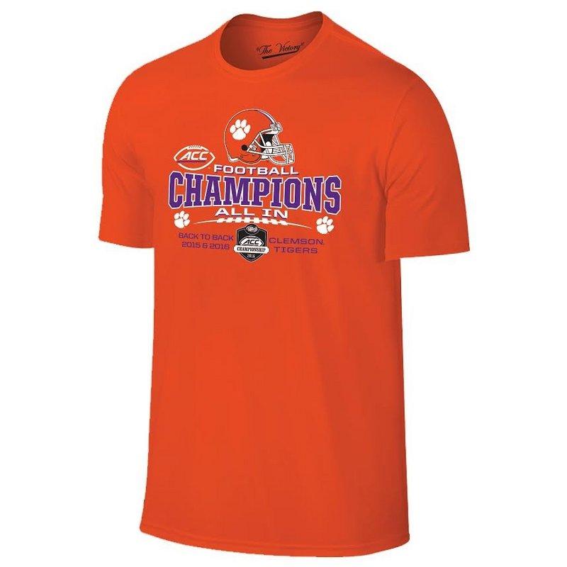 Clemson Tigers ACC Champs TShirt Orange 2016 TV1001