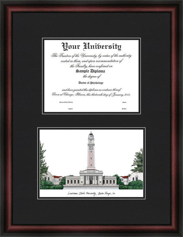 Louisiana State University Scholar Diploma Frame DSCI-la999v