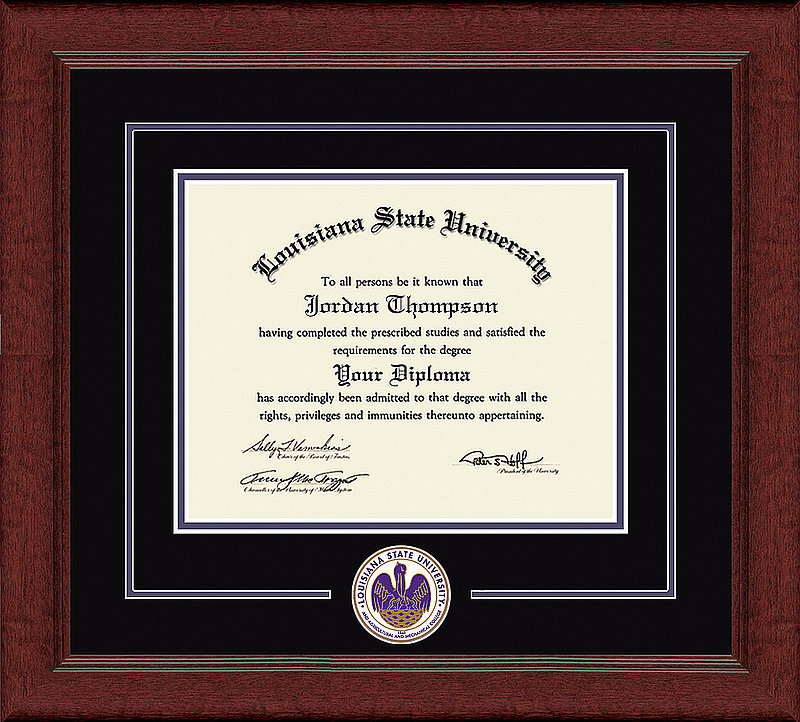 Louisiana State University Gold Embossed Diploma Frame DSCI-la999ged
