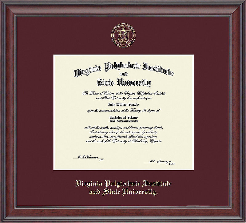 Diploma Frames & Photos - Virginia Tech Hokies | College