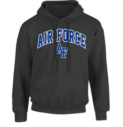5ebeb2ce83922 Air Force Falcons Hooded Sweatshirt Charcoal P0008351