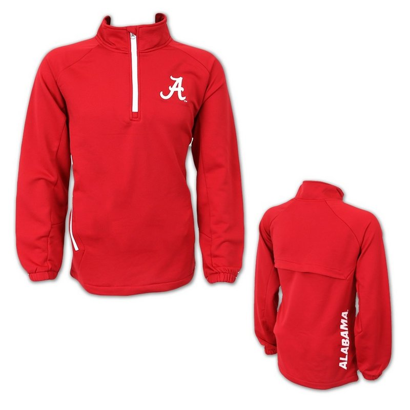 Alabama Crimson Tide 1/4 Zip Vented Aviator Sweatshirt