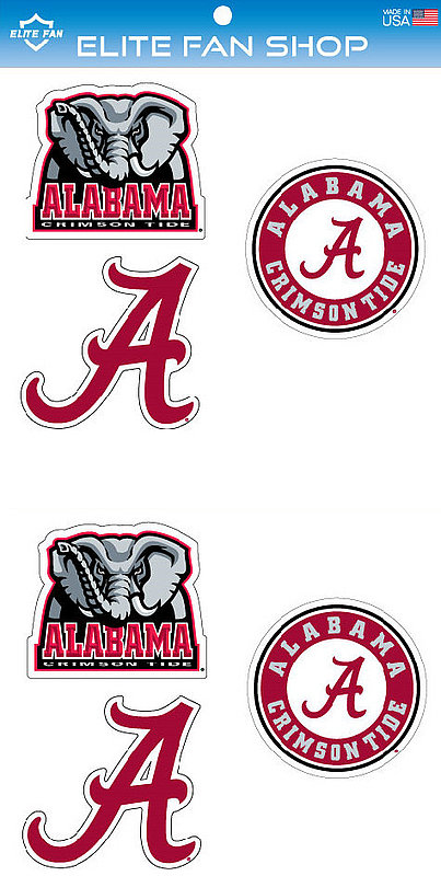 "Alabama Crimson Tide 3"" Vinyl Decal 6-Pack"