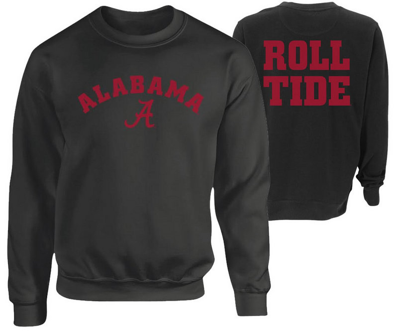 Alabama Crimson Tide Crewneck Sweatshirt Heather Gray P0005431