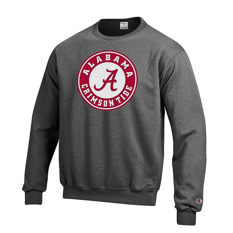 Alabama Crimson Tide Crewneck Sweatshirt Icon Charcoal APC03004900