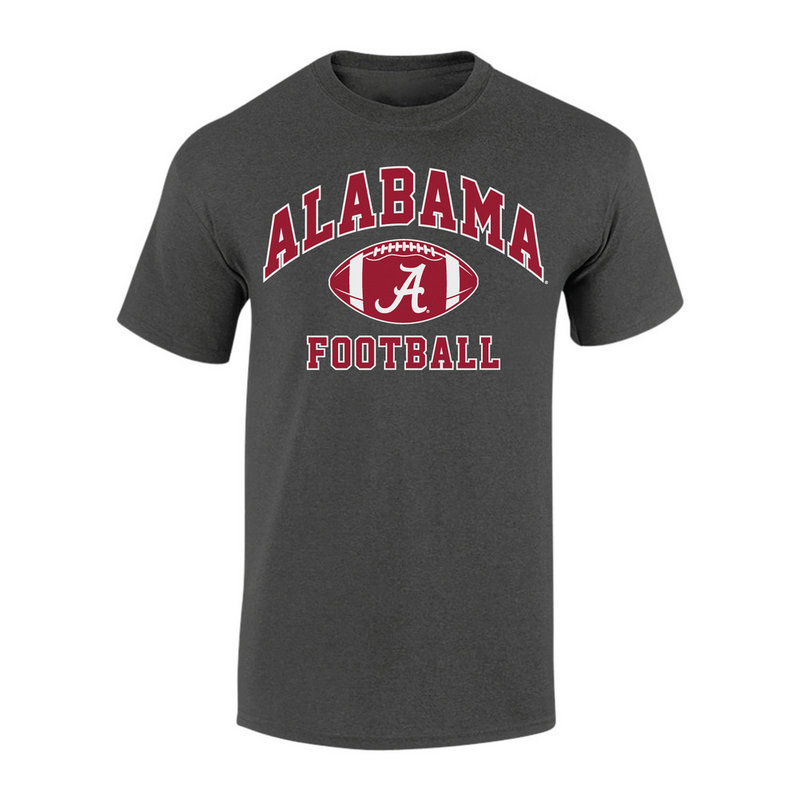 Alabama Crimson Tide Football TShirt Charcoal ALA-032