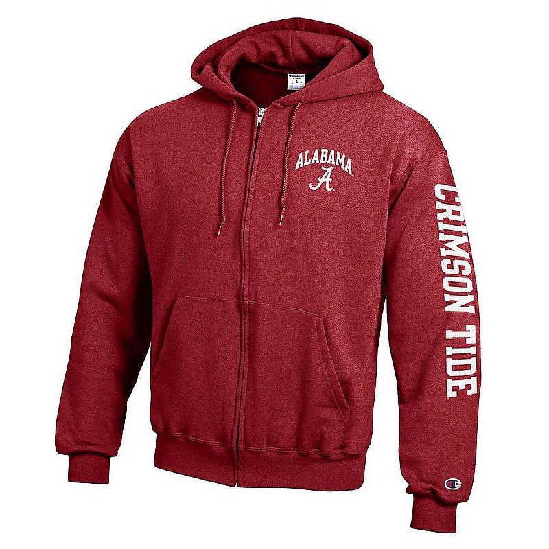 Alabama Crimson Tide Full Zip Hoodie Sweatshirt Letterman APC02973397/APC02973400