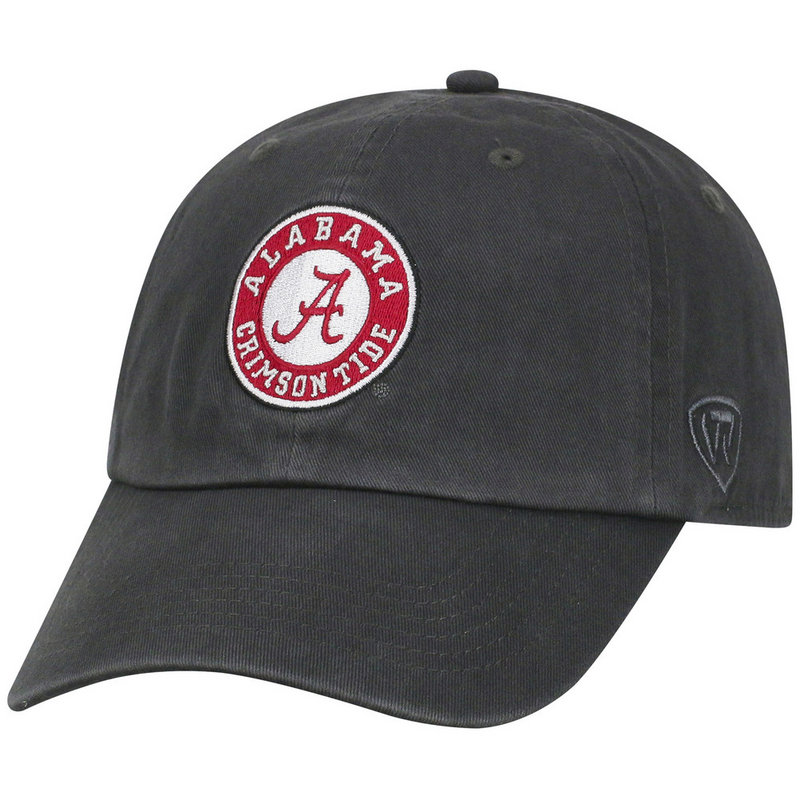 Alabama Crimson Tide Hat Icon Charcoal CREW-AL-ADJ-CHR7