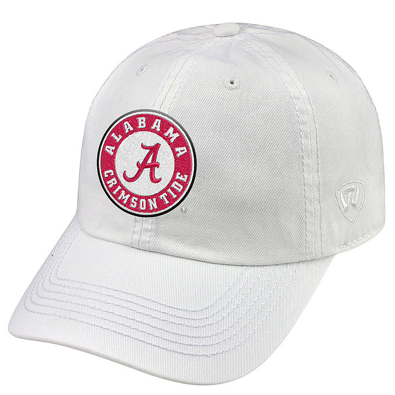 Alabama Crimson Tide Hat White CHAMP-AL-ADJ-WHT5