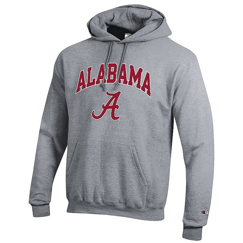 Alabama Crimson Tide Hooded Sweatshirt Varsity Gray APC02971688