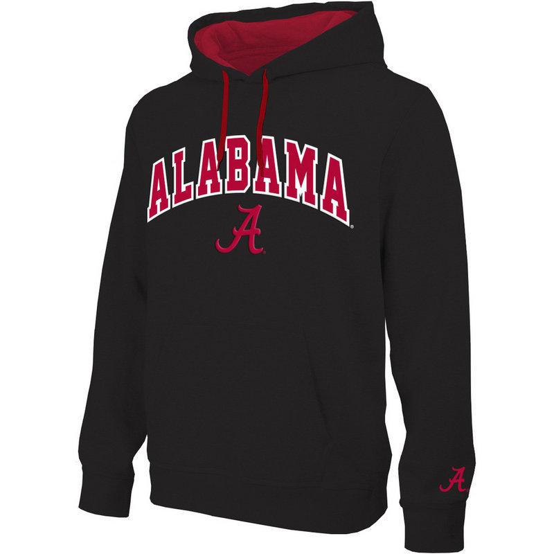 Alabama Crimson Tide Hoodie Sweatshirt Arch Black ALA28354