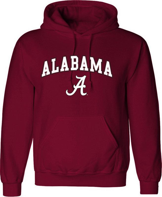 Alabama Crimson Tide Hoodie Sweatshirt Arch Cardinal UW016
