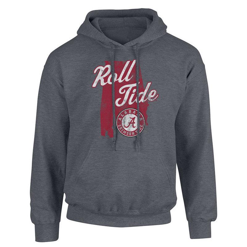 Alabama Crimson Tide Hoodie Sweatshirt Charcoal P0006165/ALA525/ ALAV1478A