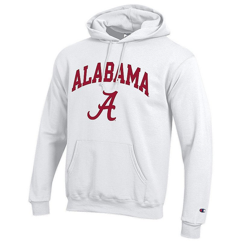Alabama Crimson Tide Hoodie Sweatshirt Varsity White APC03006381