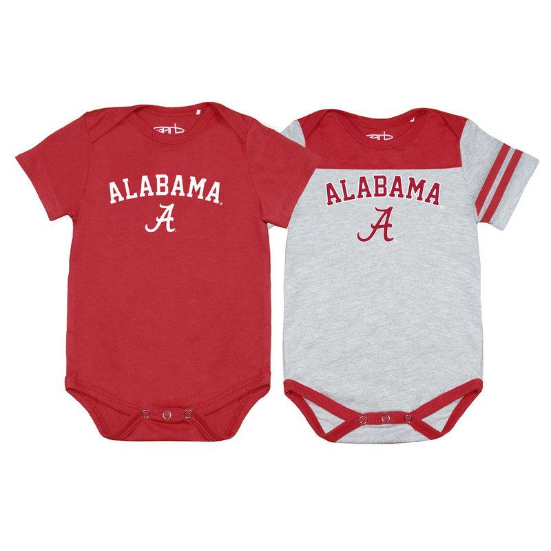Alabama Crimson Tide Infant Onesie 2 Pack TOMMY-I-CAR-ALABAMA