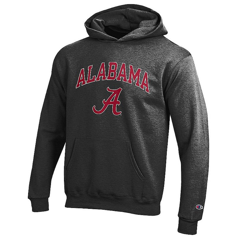 Alabama Crimson Tide Kids Hoodie Sweatshirt Arch Charcoal APC03009781